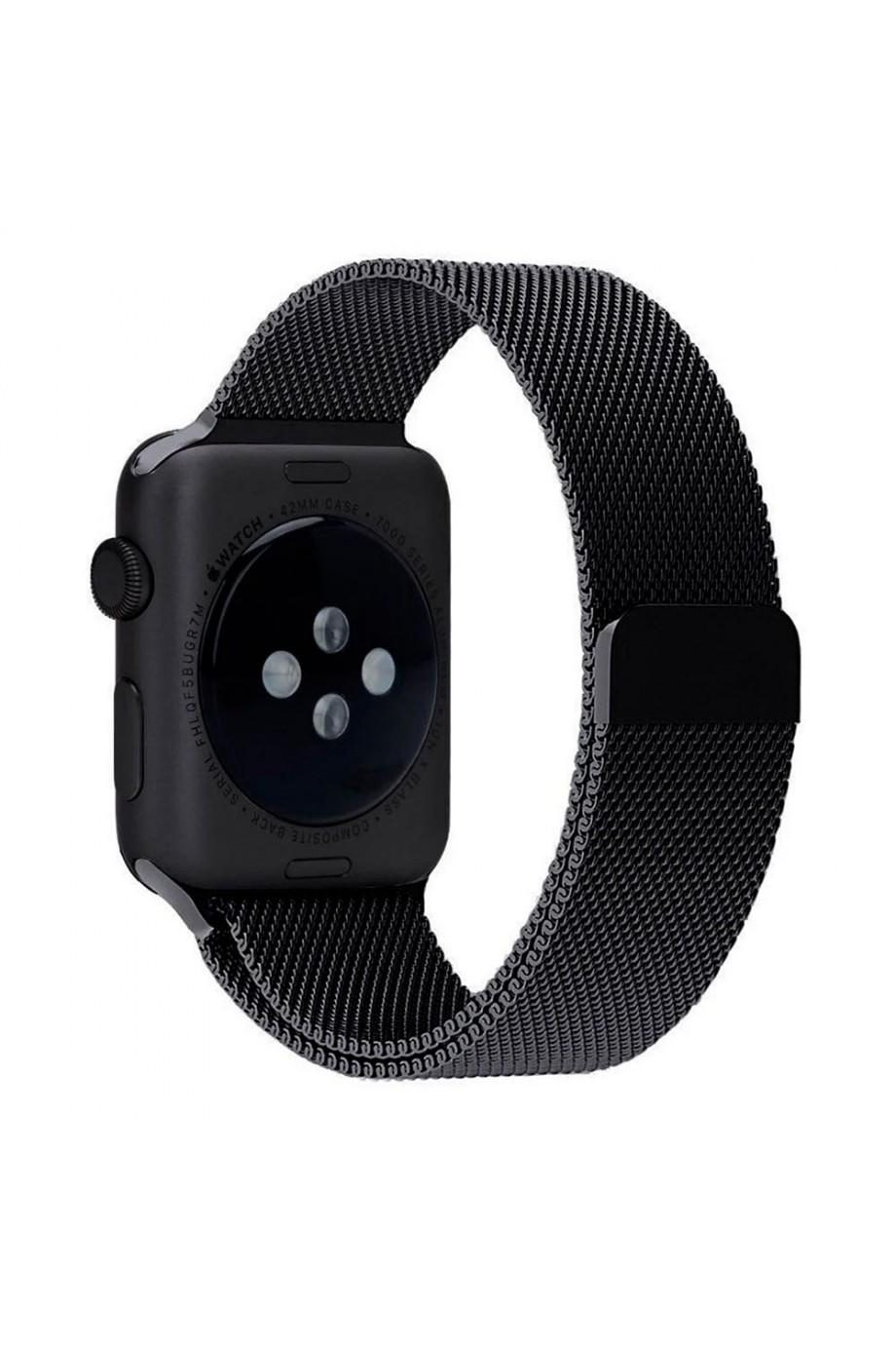 Металлический ремешок для Apple Watch 4/5 44 мм, черный