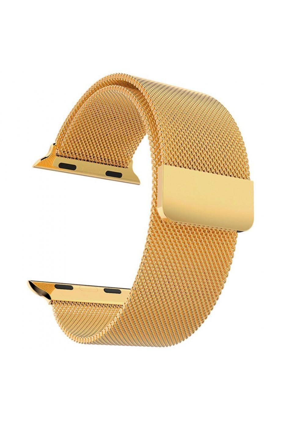 Металлический ремешок для Apple Watch 3 42 мм, золотой