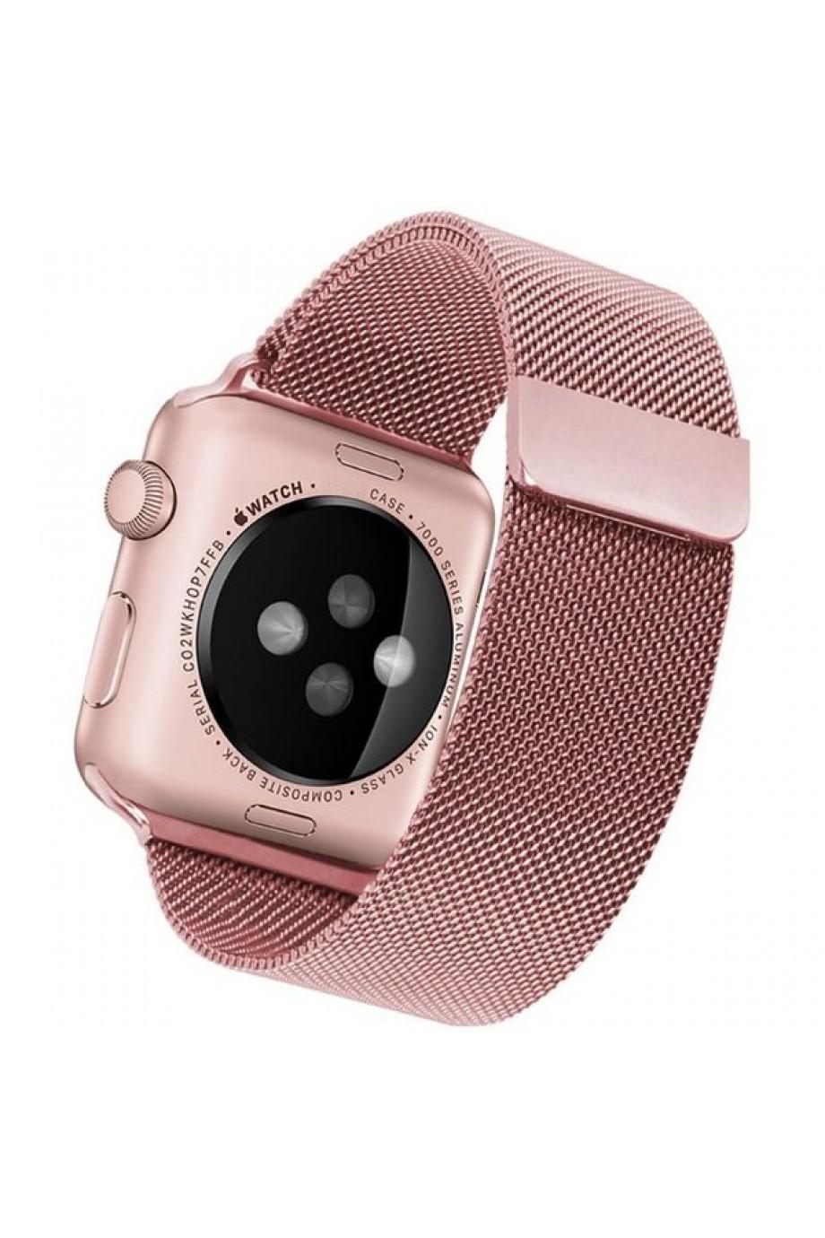 Металлический ремешок для Apple Watch 3 38 мм, розовое золото