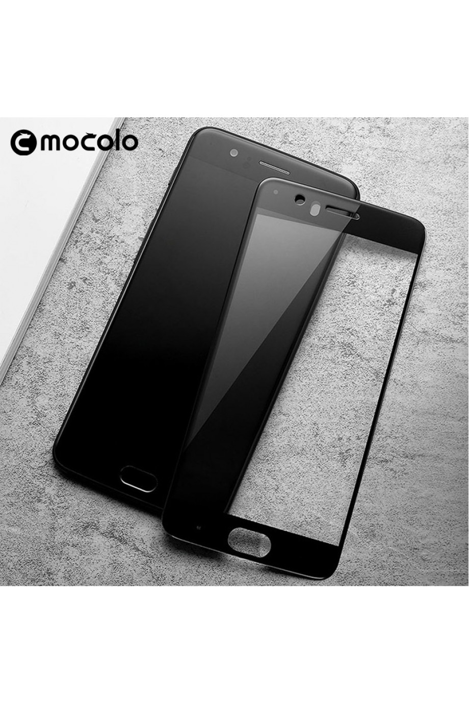 Защитное стекло 3D Mocolo для OnePlus 5, черная рамка