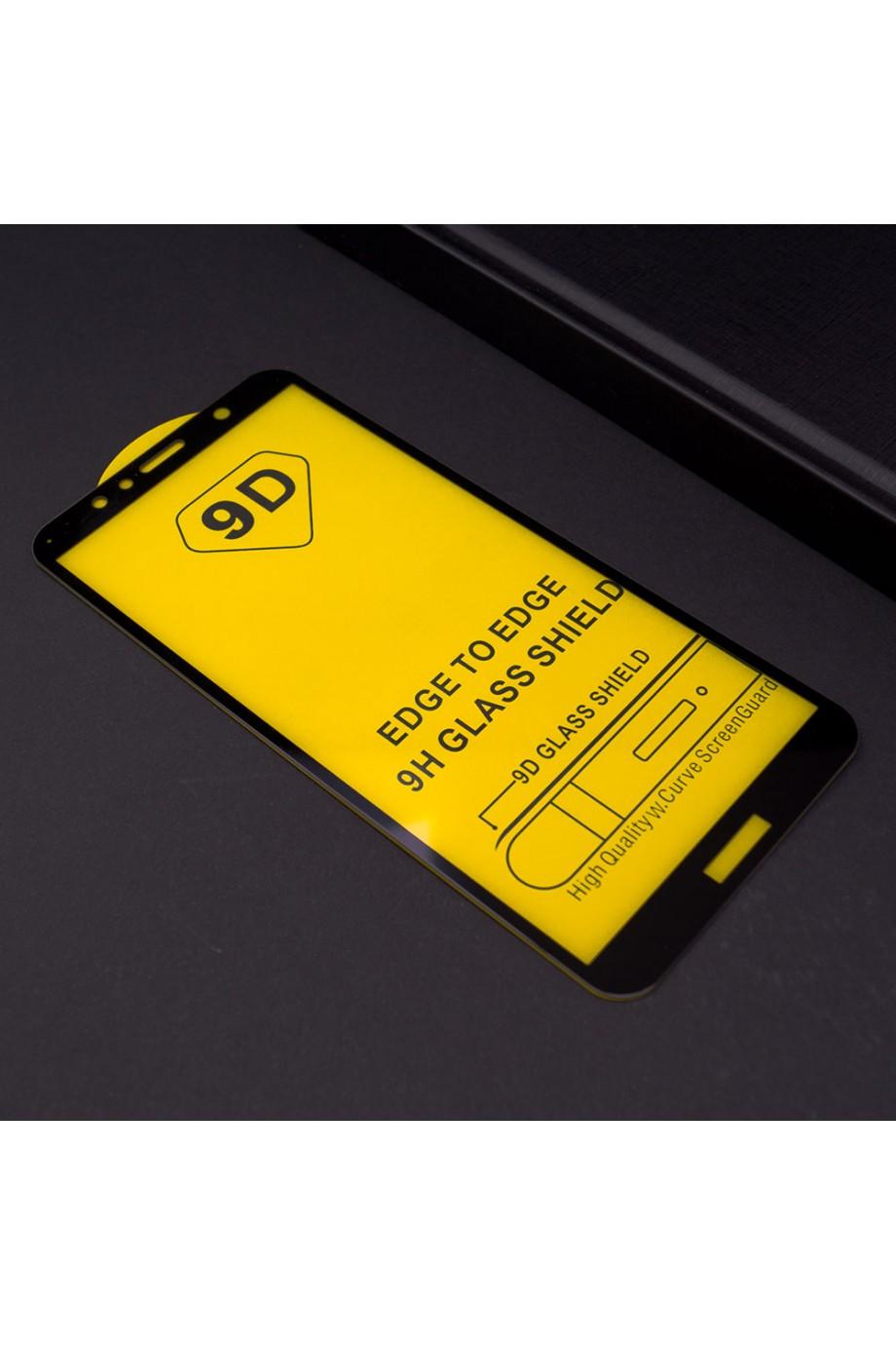 Защитное стекло 9D Mikomo для Huawei Y5 Prime 2018, черная рамка, полный клей, mk28