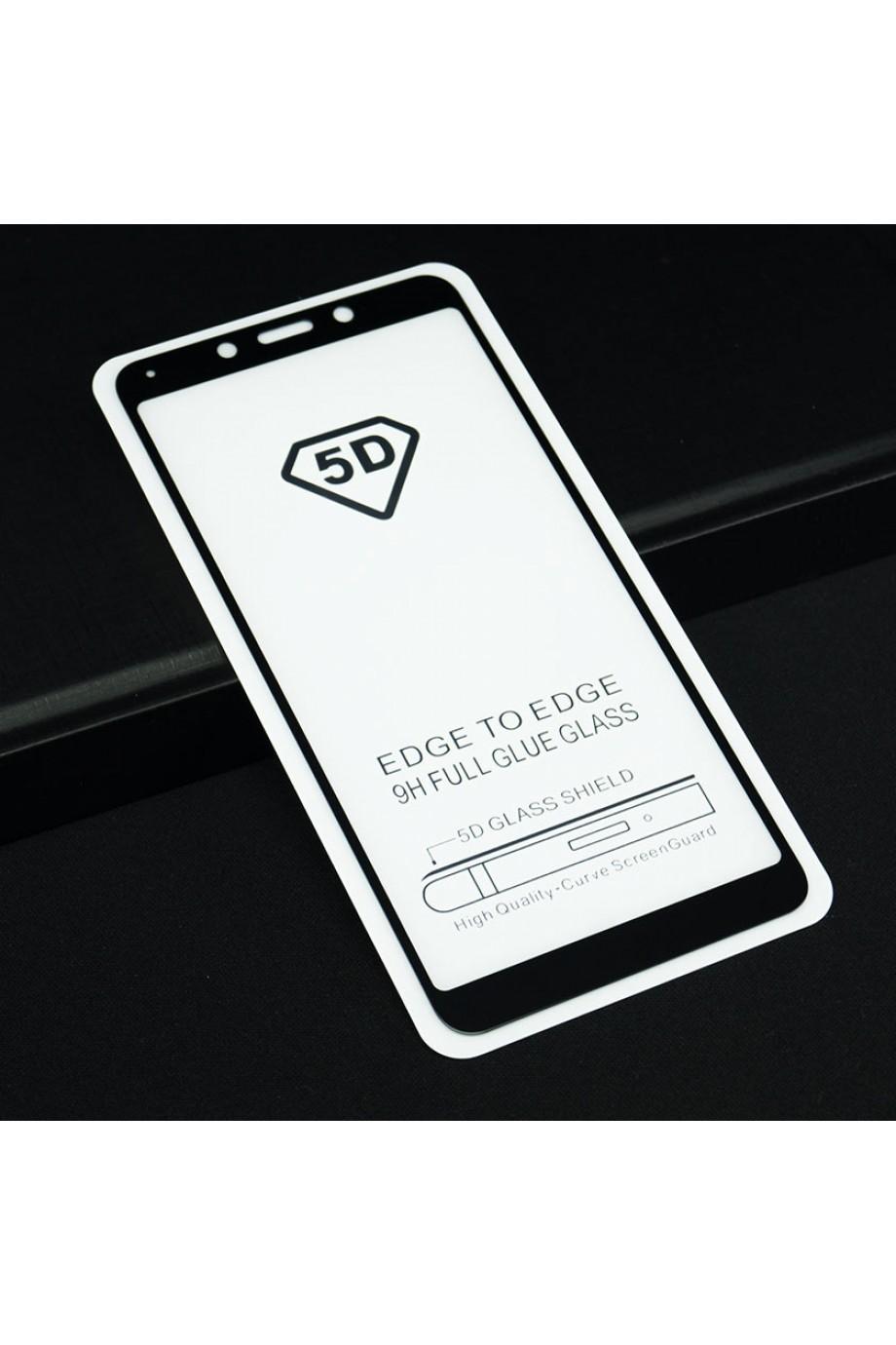 Защитное стекло 5D Mikomo для Xiaomi Redmi 6A, черная рамка, полный клей