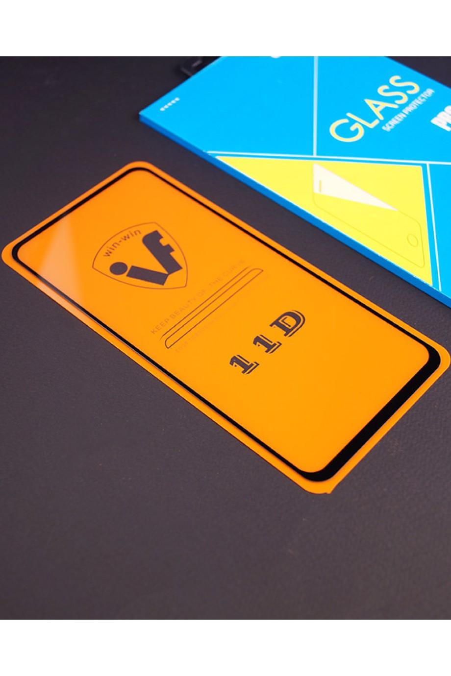 Защитное стекло 11D Glass Pro для Samsung Galaxy A60, черная рамка, полный клей