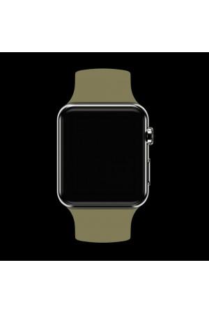 Силиконовый ремешок для Apple Watch 4/5 44 мм, темно-бежевый