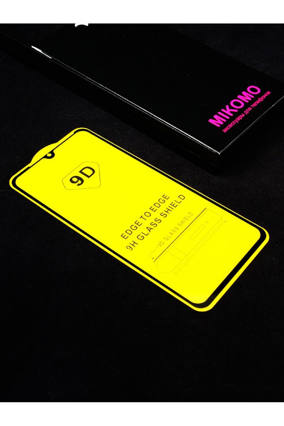 Защитное стекло 9D Mikomo для Xiaomi Mi CC9, черная рамка, полный клей