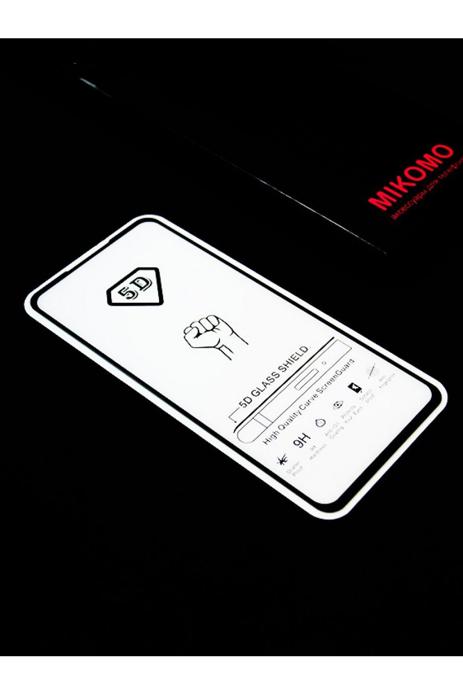 Защитное стекло 5D Mikomo для Xiaomi Redmi K20, черная рамка, полный клей