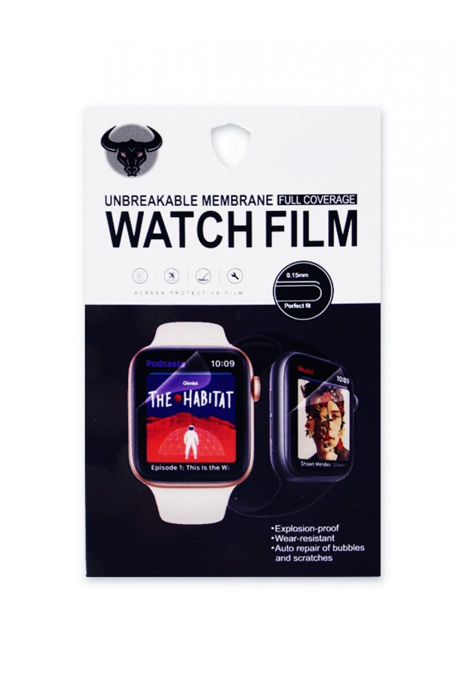 Гидрогелевая пленка для Apple Watch 4/5 44 мм, черная рамка