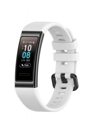 Силиконовый ремешок для Huawei Band 3 Pro, белый