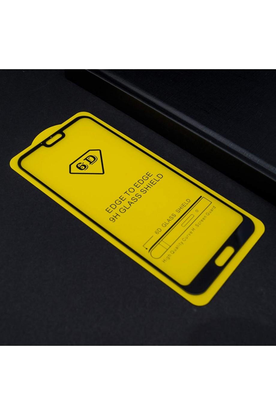 Защитное стекло 6D Mikomo для Honor 10, черная рамка, полный клей