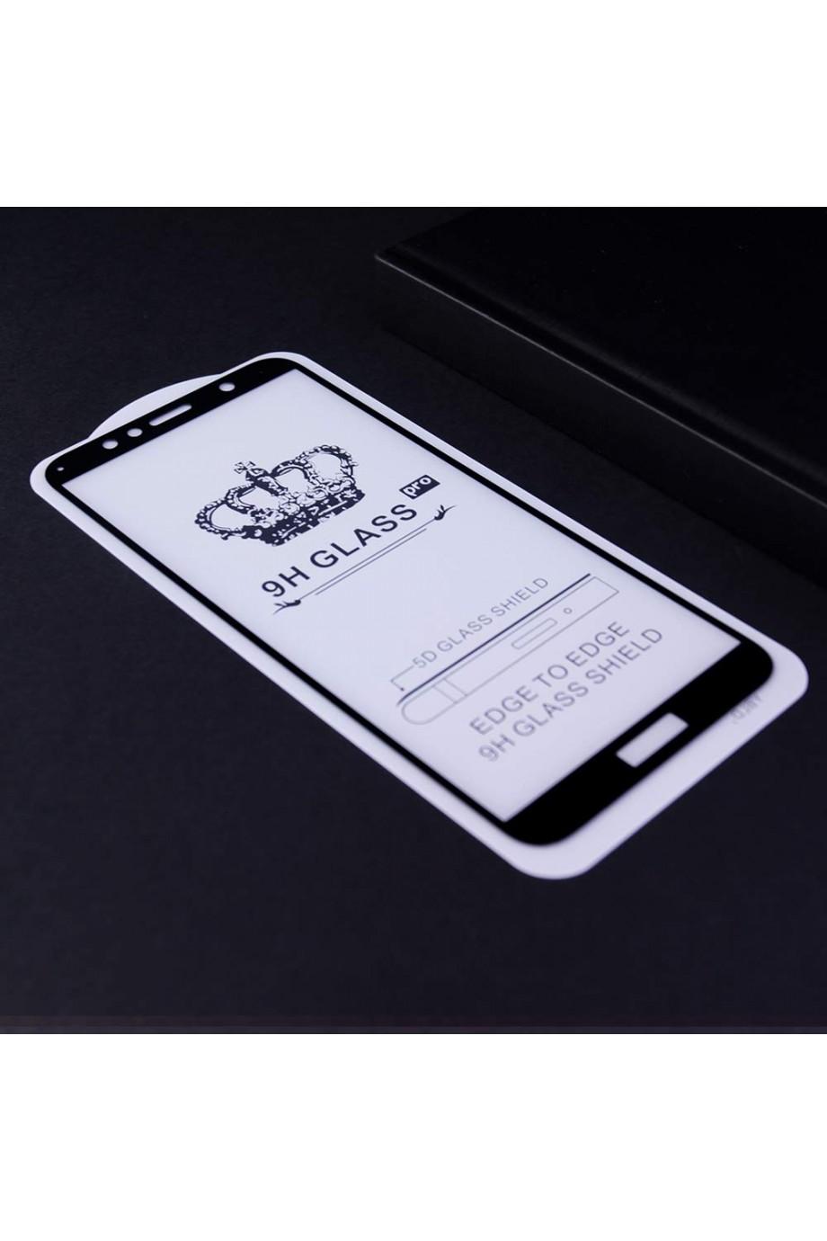 Защитное стекло 5D Glass Pro для Huawei Honor 7A Pro, черная рамка, полный клей