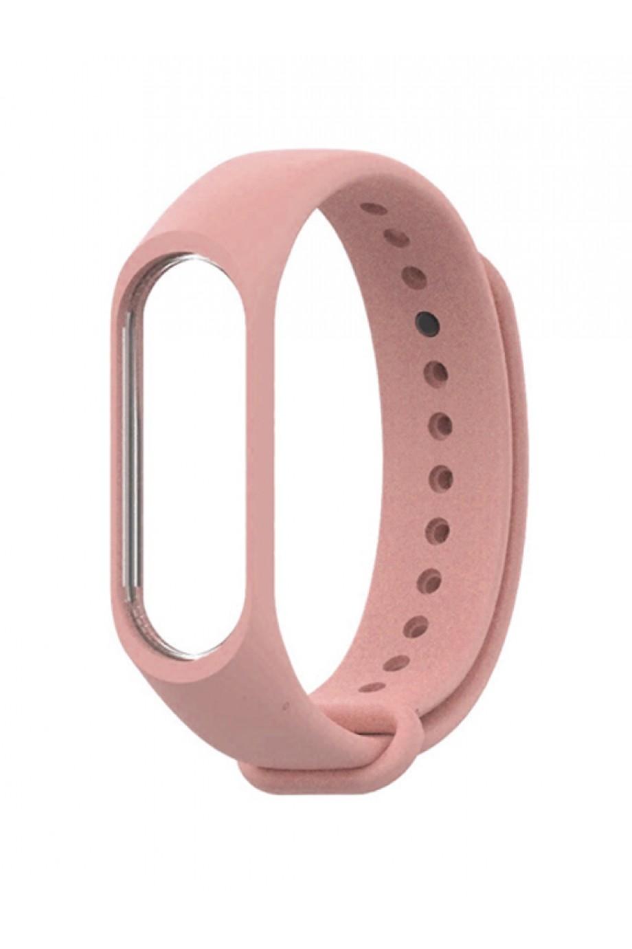 Силиконовый ремешок для Xiaomi Mi Band 3, розовый лепесток
