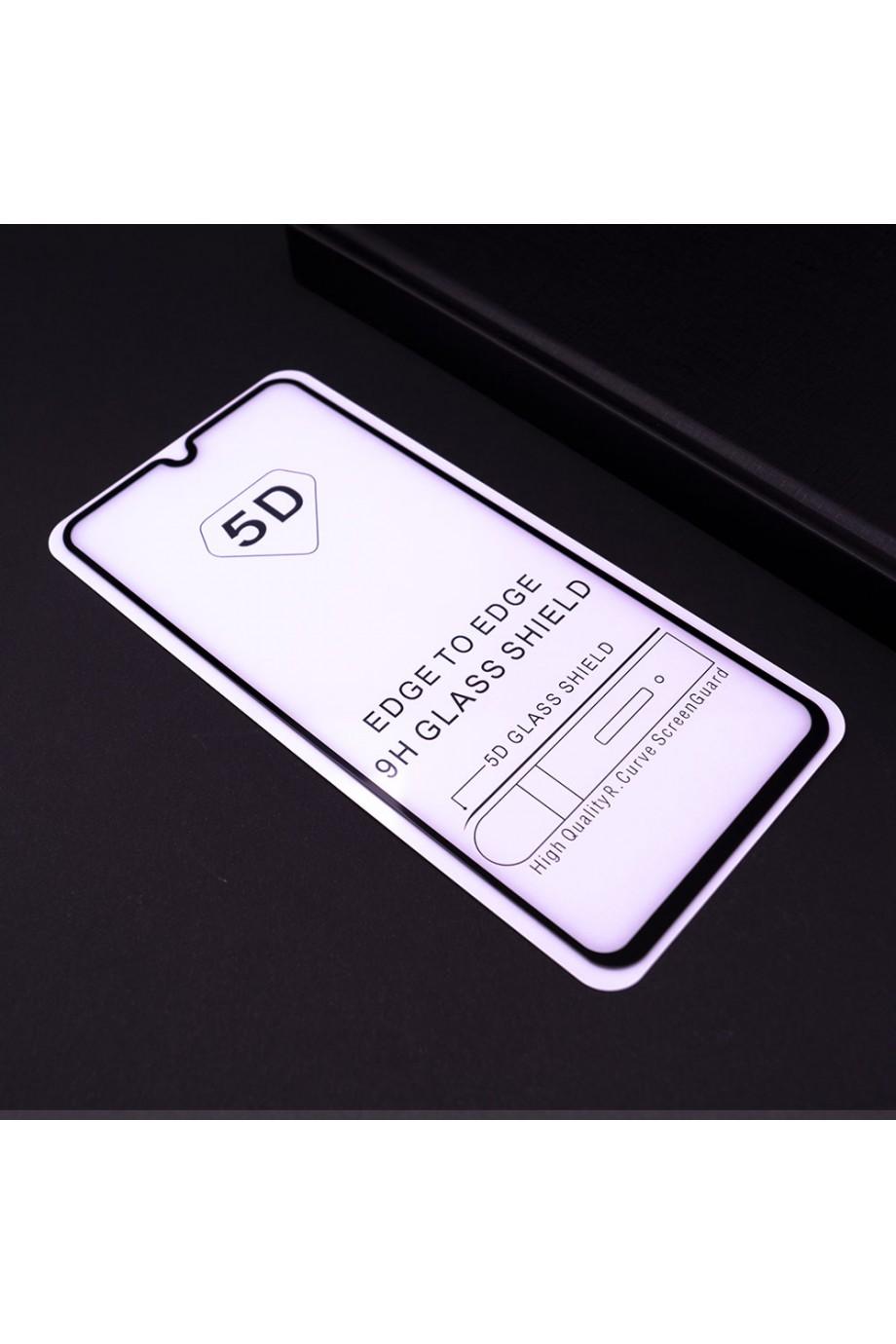 Защитное стекло 5D Mikomo для Samsung Galaxy A70, черная рамка, полный клей