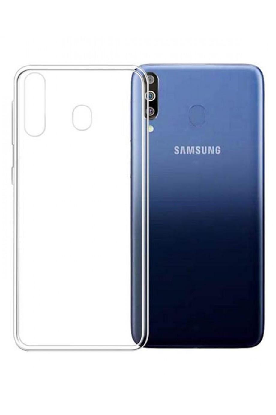 Чехол силиконовый для Samsung Galaxy A60, прозрачный