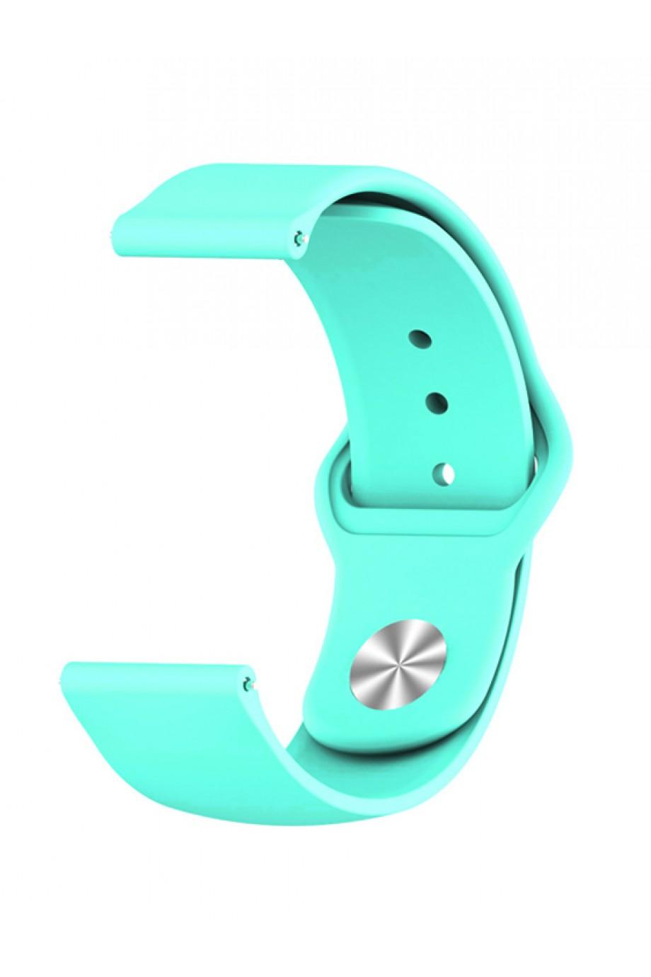 Силиконовый ремешок для Amazfit Bip, 20 мм, застежка pin-and-tuck, мятный, ml-07