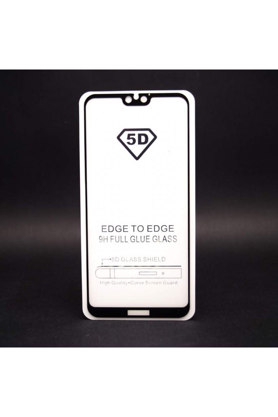 Защитное стекло 5D Mikomo для Huawei P Smart 2019, черная рамка, полный клей