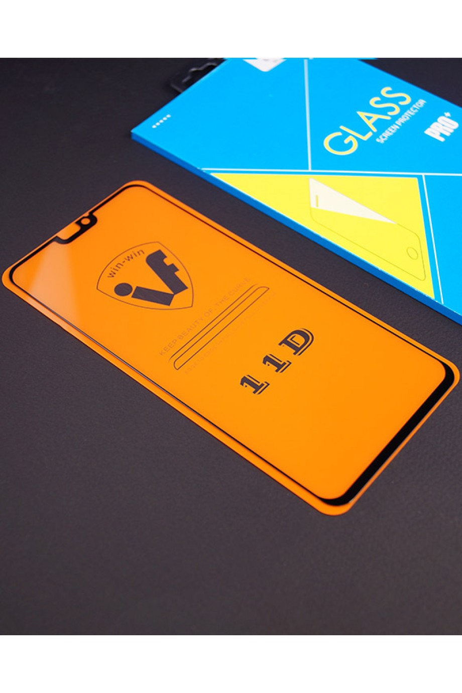 Защитное стекло 11D Glass Pro для Honor 8X, черная рамка, полный клей