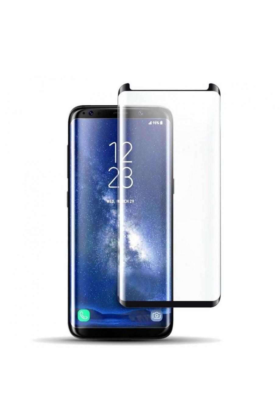Защитное стекло 3D Mikomo для Samsung Galaxy S9, черная рамка