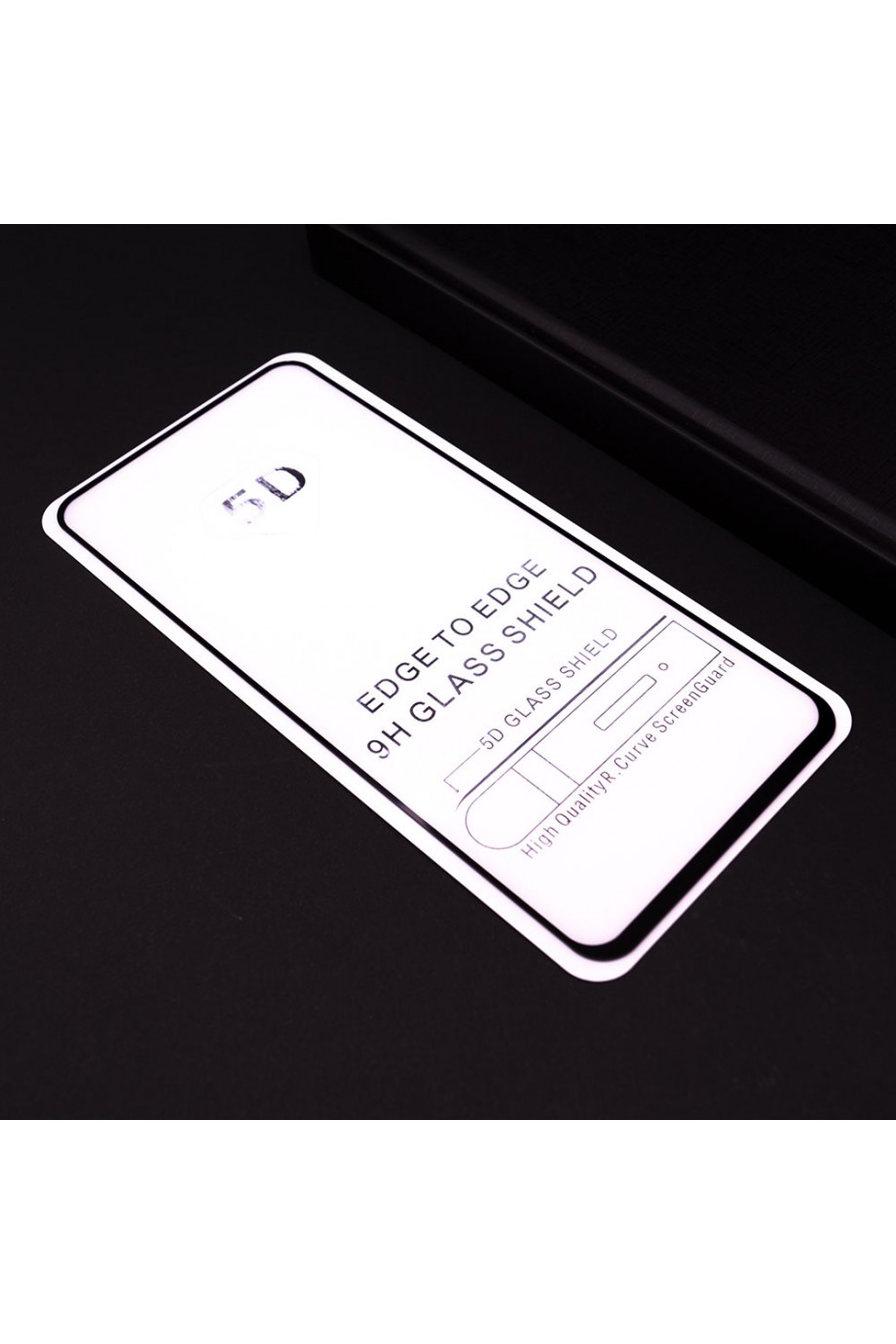 Защитное стекло 5D Mikomo для Samsung Galaxy A90, черная рамка, полный клей