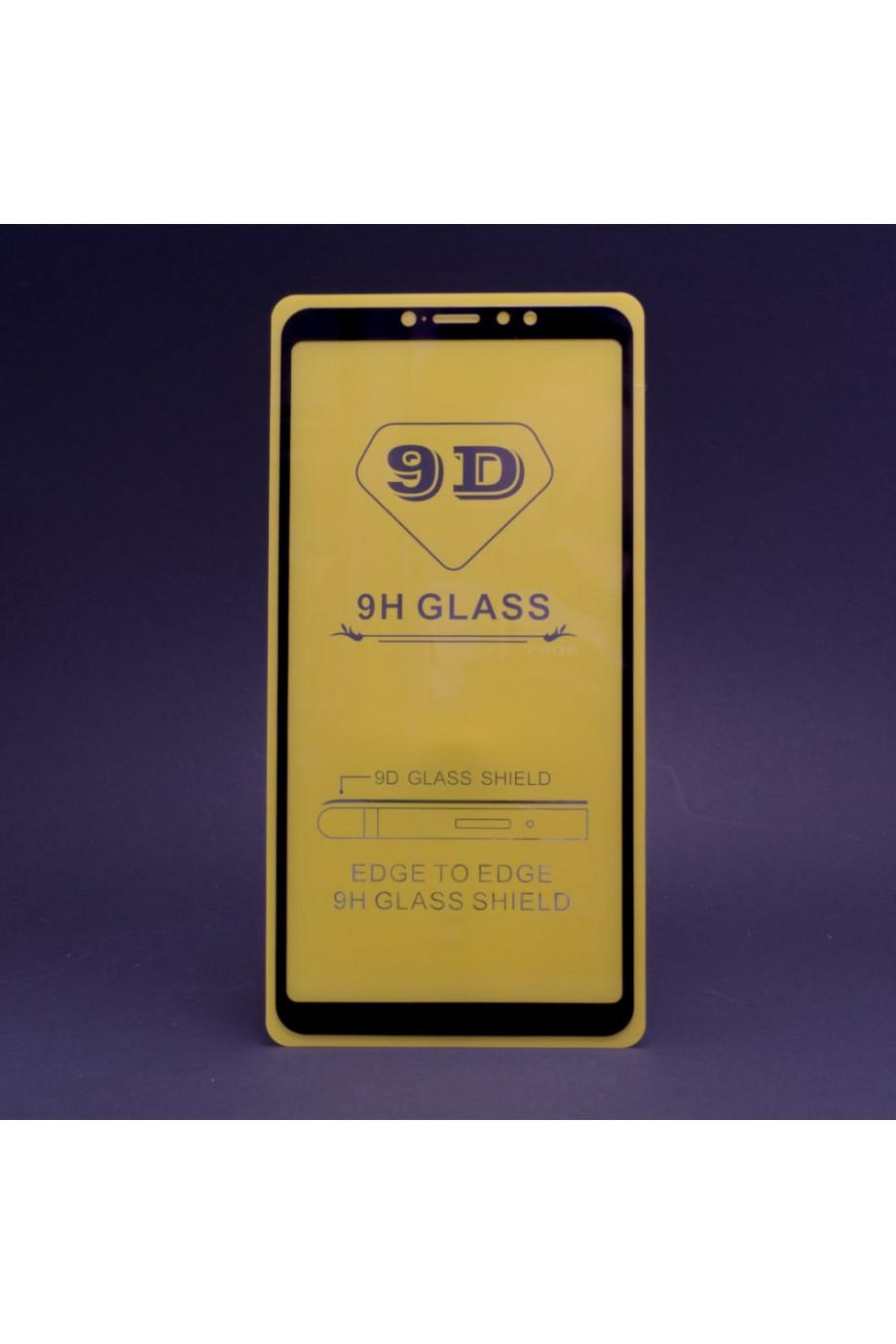 Защитное стекло 9D Mikomo для Xiaomi Mi Max 3, черная рамка, полный клей