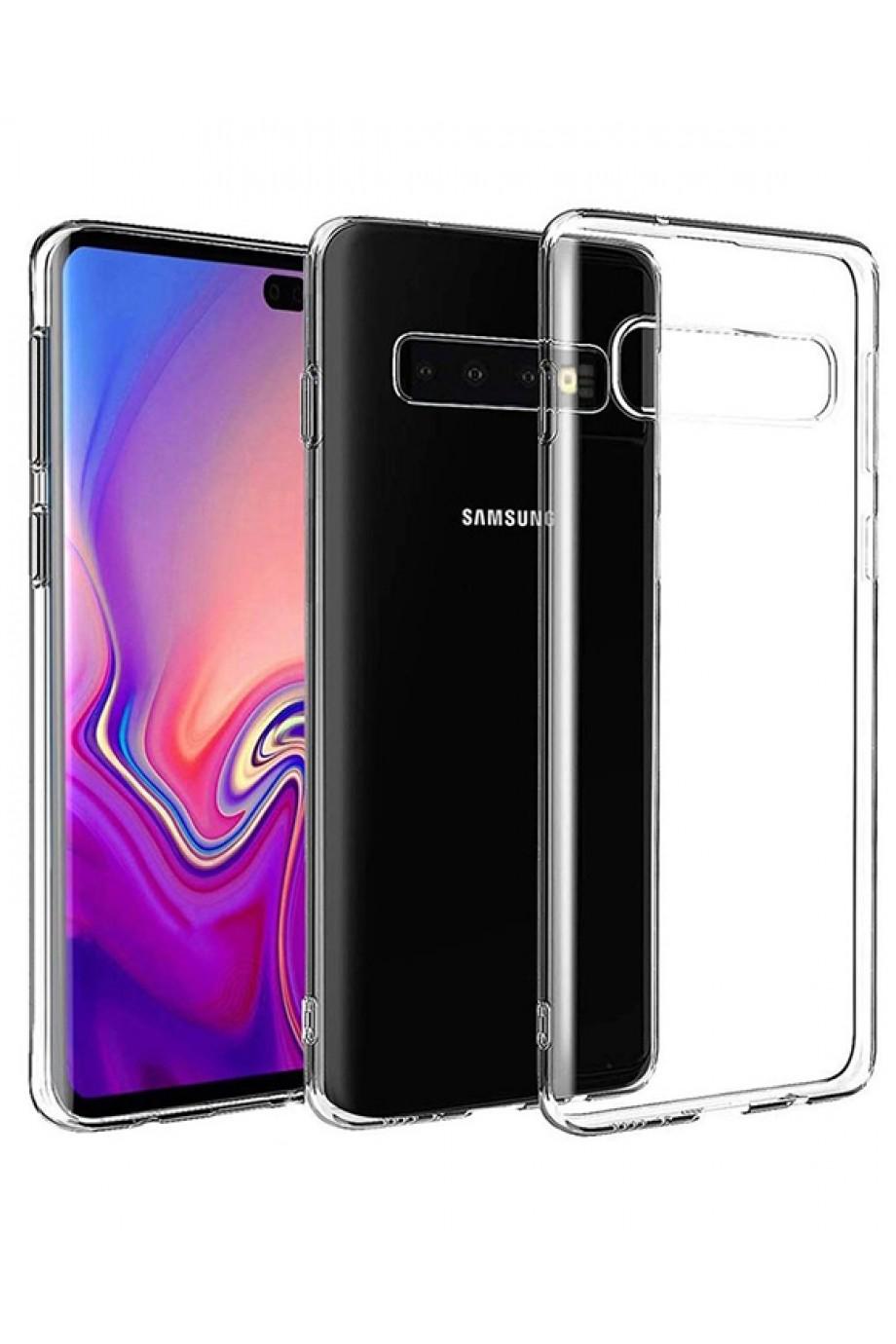 Чехол силиконовый для Samsung Galaxy S10 Plus, прозрачный