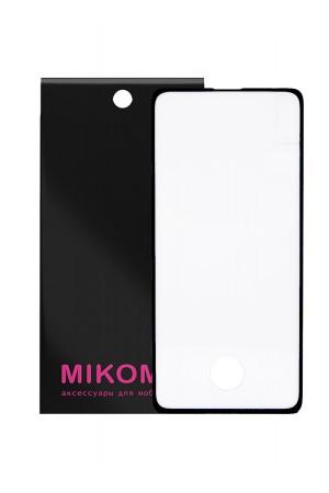 Защитное стекло 3D Mikomo для Samsung Galaxy S10, отверстие под палец, черная рамка, полный клей