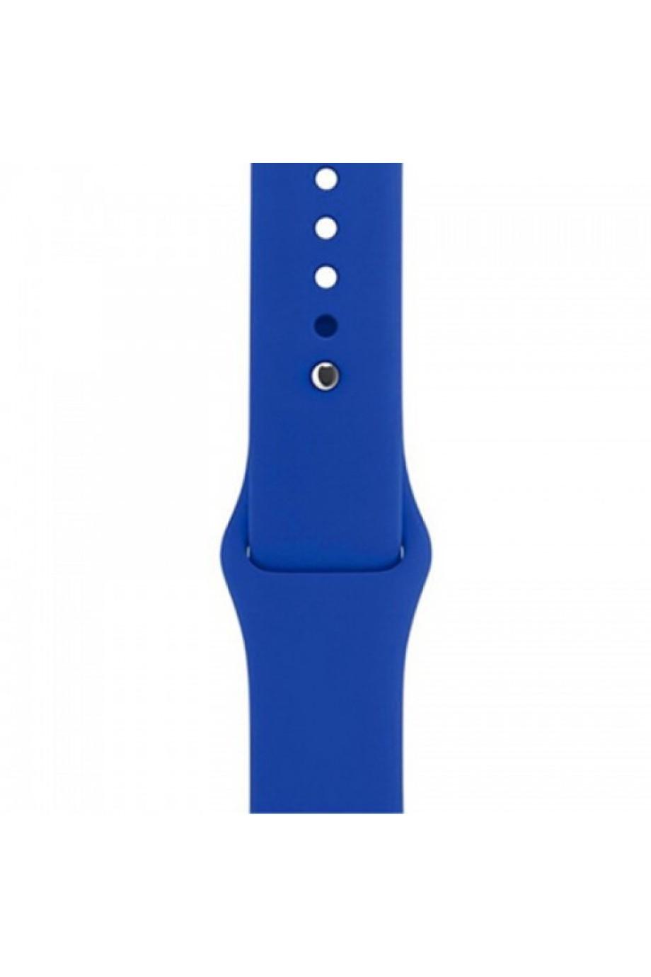 Силиконовый ремешок для Apple Watch 4/5 40 мм, синий