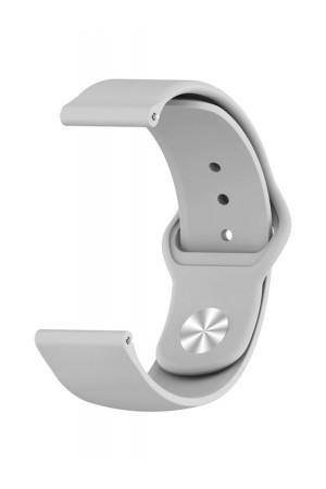 Силиконовый ремешок для Amazfit Bip, 20 мм, застежка pin-and-tuck, серый, ml-01