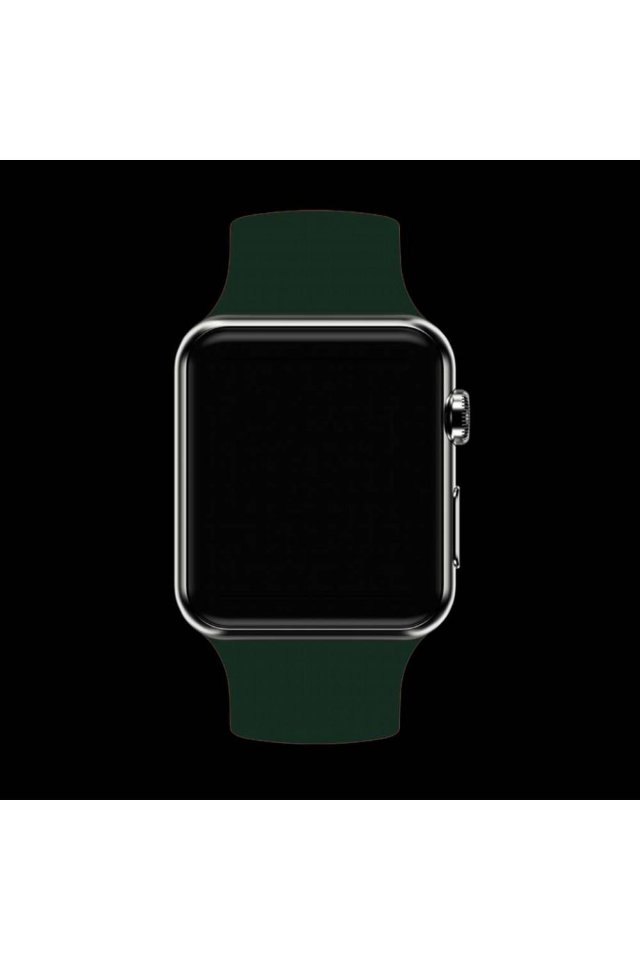 Силиконовый ремешок для Apple Watch 3 38 мм, темно-зеленый