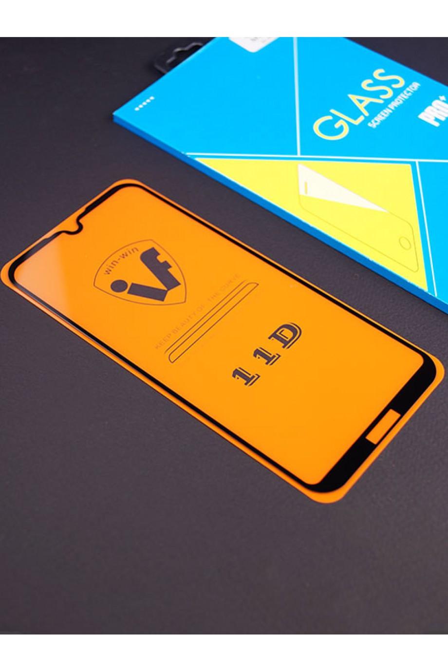 Защитное стекло 11D Glass Pro для Huawei Y5 2019, черная рамка, полный клей