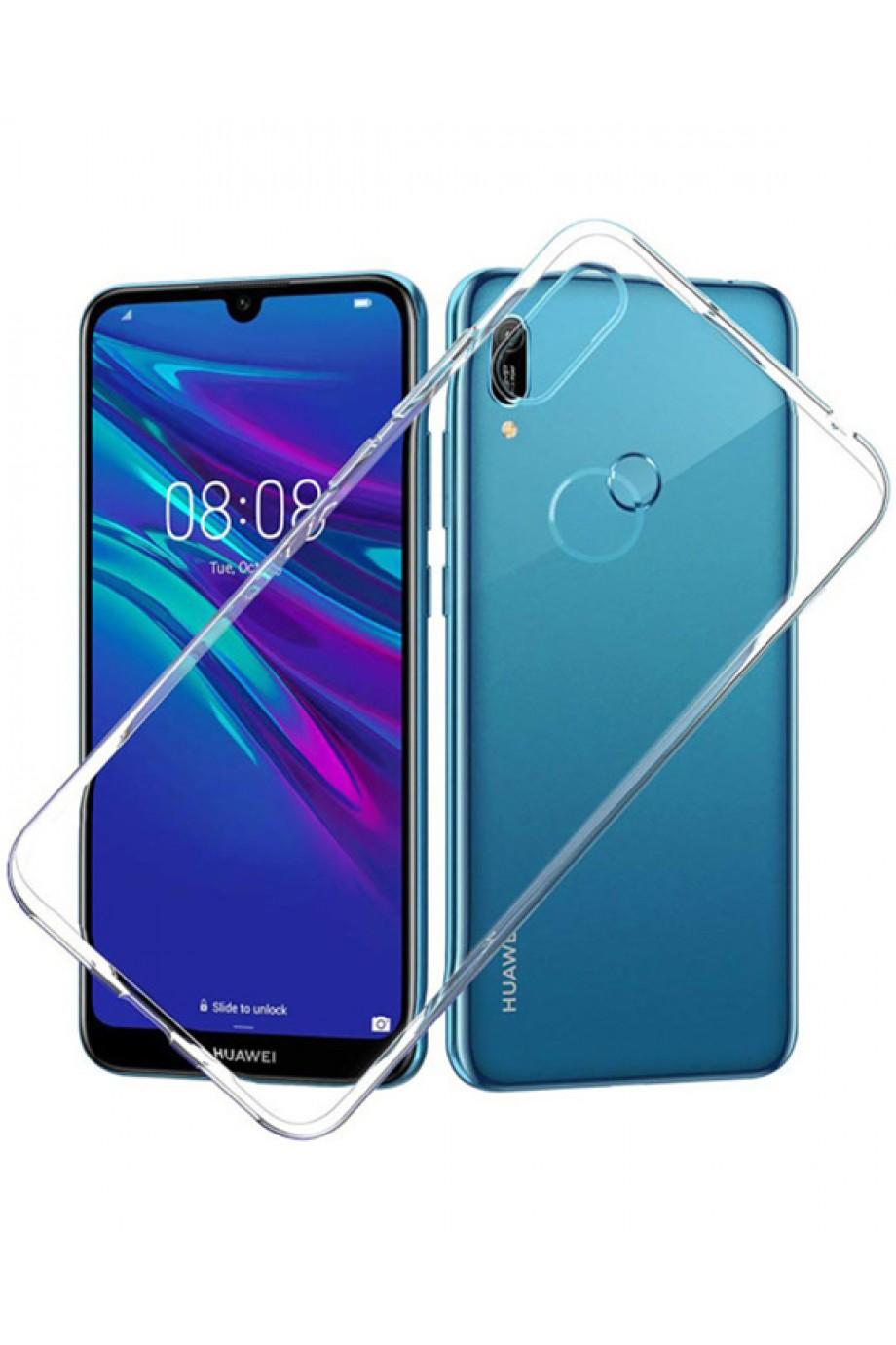 Чехол силиконовый для Huawei Y6 2019, прозрачный