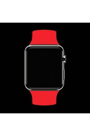 Силиконовый ремешок для Apple Watch 3 38 мм, алый