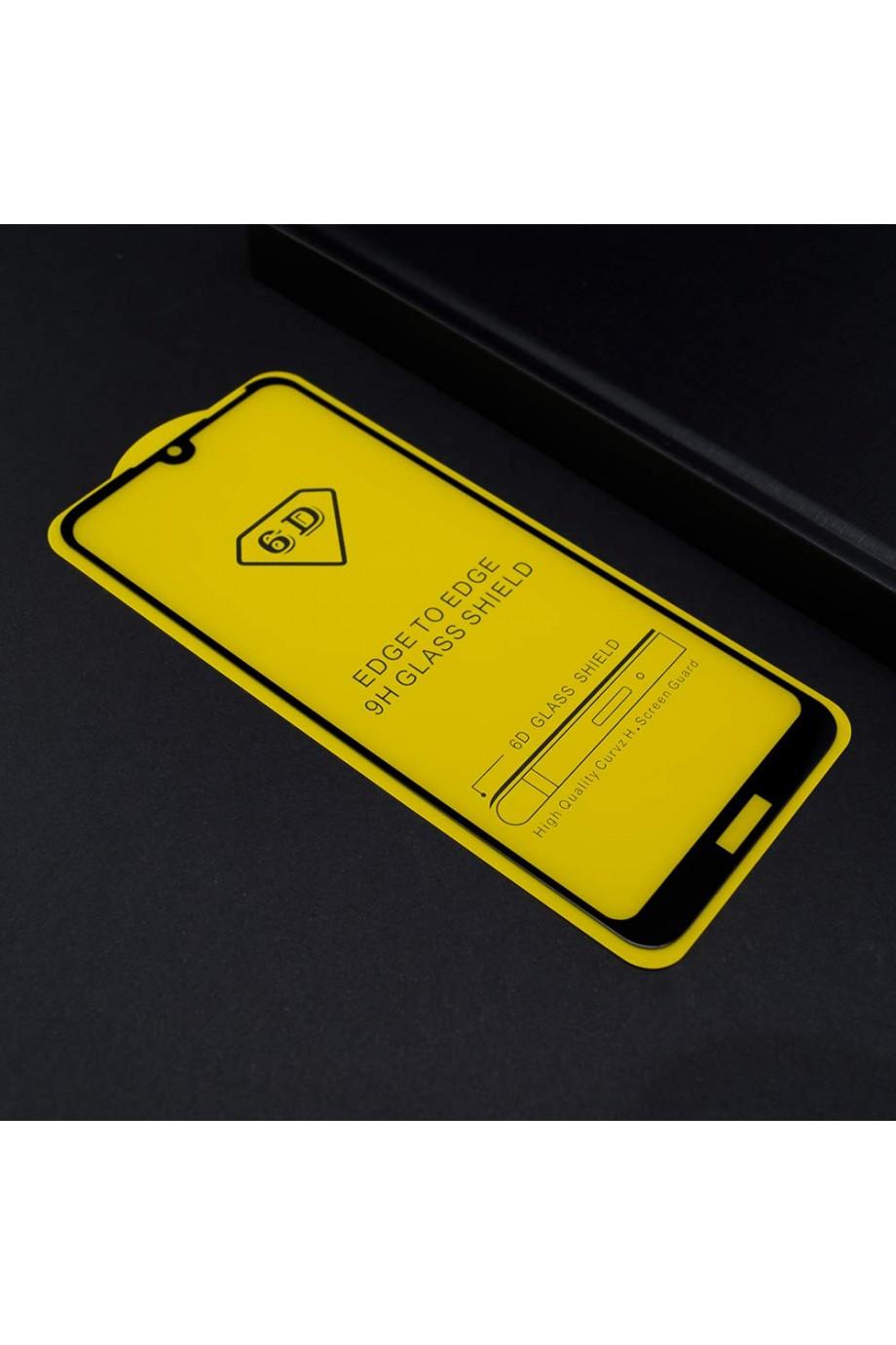 Защитное стекло 6D Mikomo для Huawei Y6 2019, черная рамка, полный клей