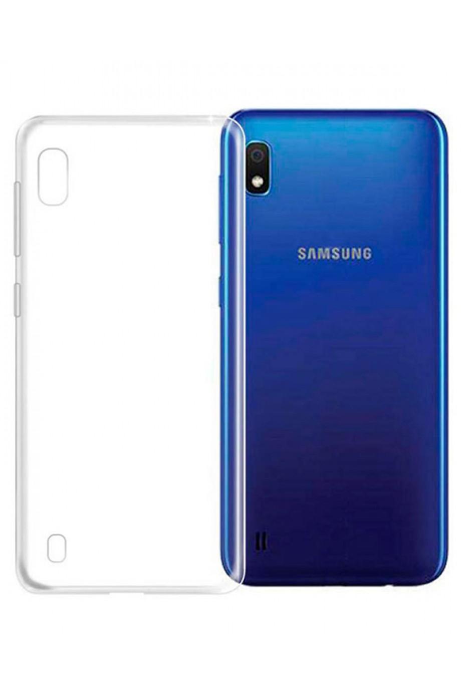 Чехол силиконовый для Samsung Galaxy A10, прозрачный