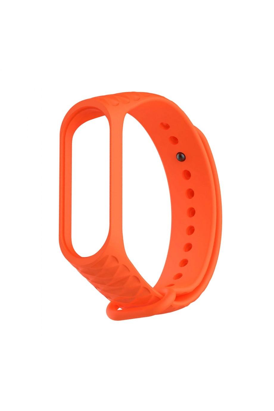Силиконовый ремешок для Xiaomi Mi Band 4, ребристый, оранжевый