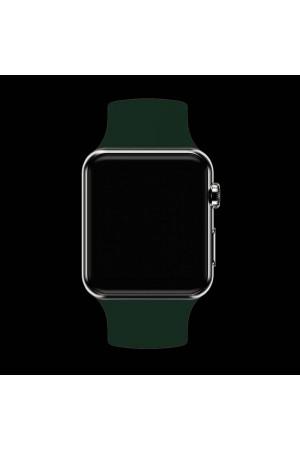 Силиконовый ремешок для Apple Watch 4/5 40 мм, темно-зеленый