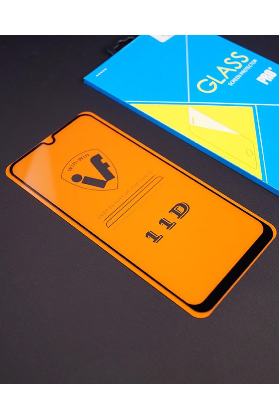 Защитное стекло 11D Glass Pro для Samsung Galaxy A30, черная рамка, полный клей