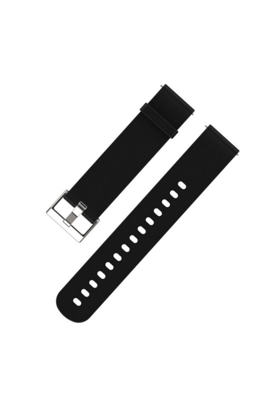 Силиконовый ремешок для Amazfit Bip, 20 мм, черный