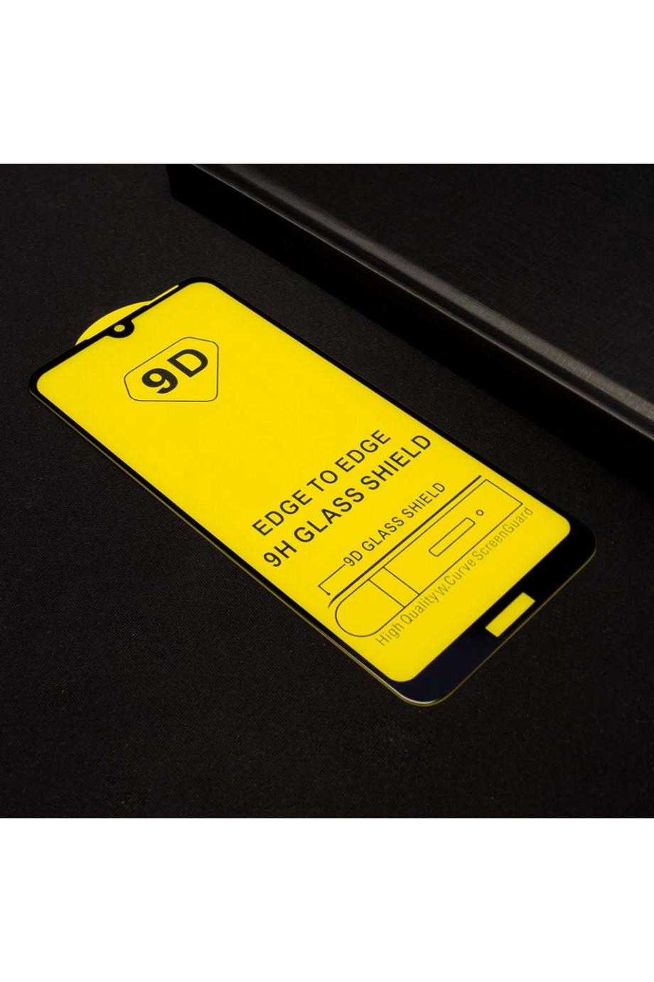 Защитное стекло 9D Mikomo для Honor 8A, черная рамка, полный клей