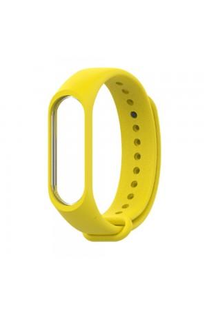 Силиконовый ремешок для Xiaomi Mi Band 4, желтый