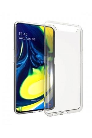 Чехол силиконовый для Samsung Galaxy A90, прозрачный