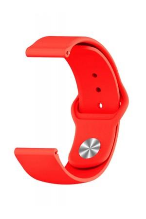 Силиконовый ремешок для Amazfit Bip, 20 мм, застежка pin-and-tuck, красный, ml-04