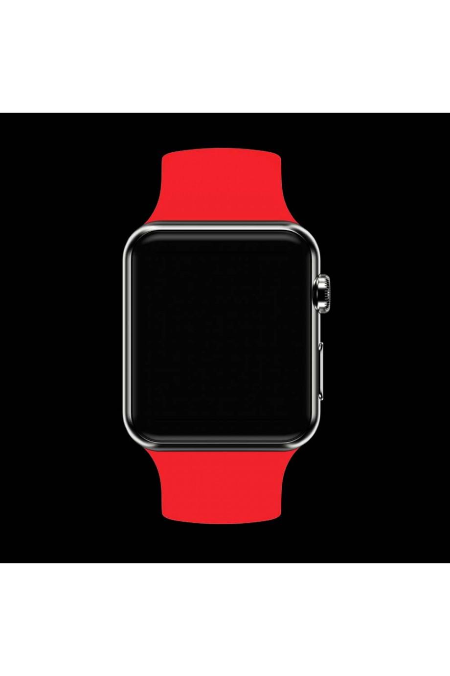 Силиконовый ремешок для Apple Watch 4/5 40 мм, алый