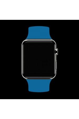 Силиконовый ремешок для Apple Watch 4/5 44 мм, полуночно-синий