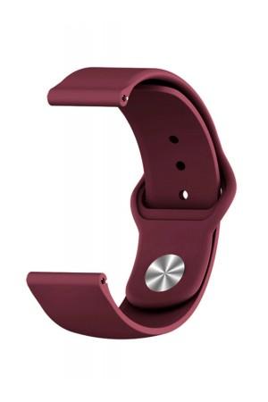 Силиконовый ремешок для Amazfit Bip, 20 мм, застежка pin-and-tuck, вишневый