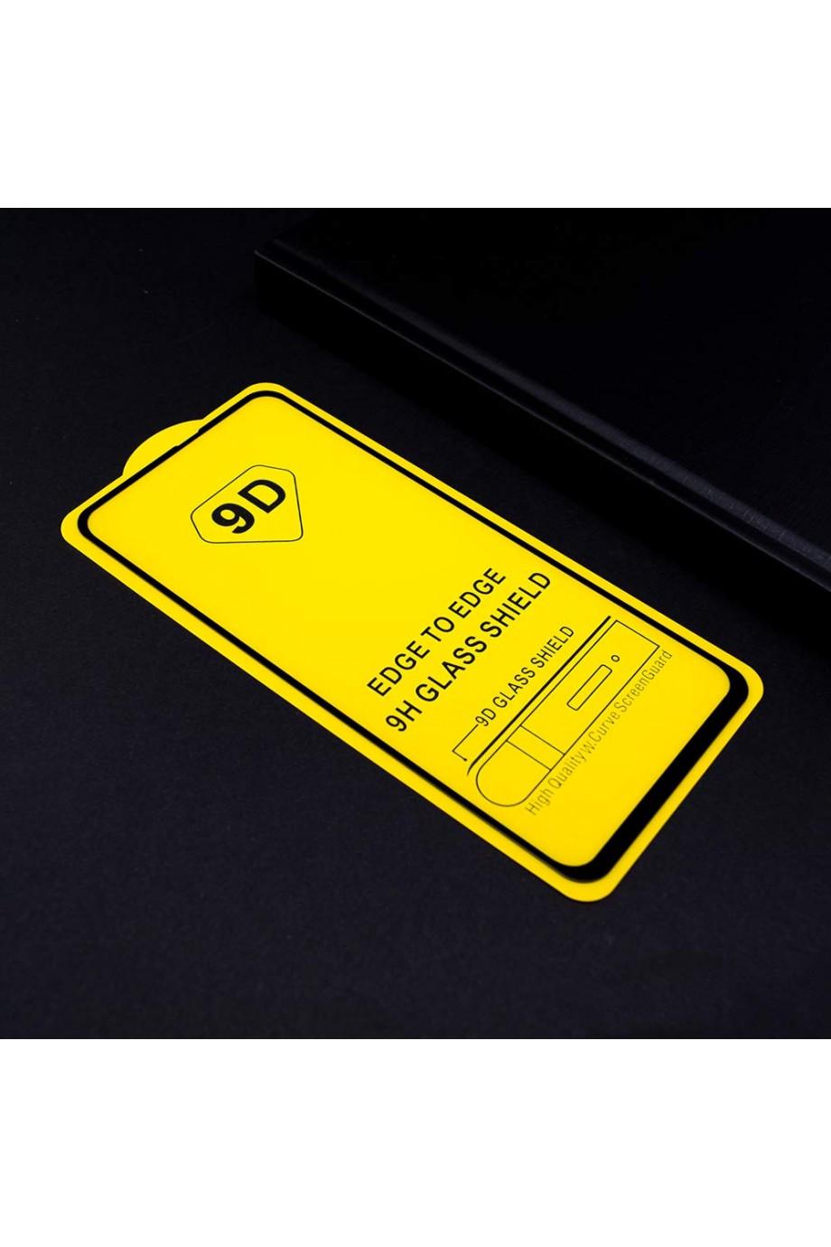 Защитное стекло 9D Mikomo для Samsung Galaxy A60, черная рамка, полный клей