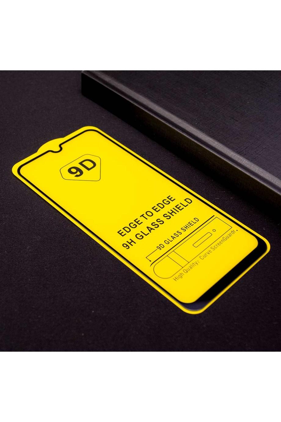 Защитное стекло 9D Mikomo для Samsung Galaxy A50, черная рамка, полный клей