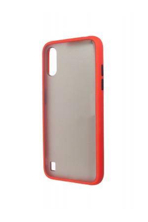 Чехол пластиковый для Samsung Galaxy A01, красный бампер