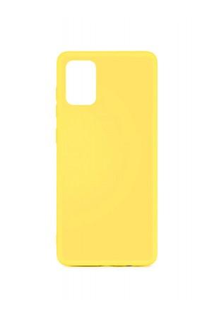 Чехол силиконовый для Samsung Galaxy A51, мягкая подложка, желтый