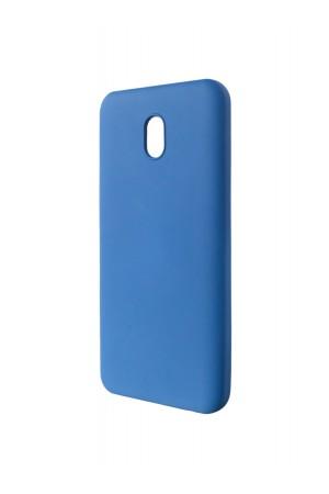 Чехол силиконовый Brauffen для Xiaomi Redmi 8A, мягкая подложка, синий