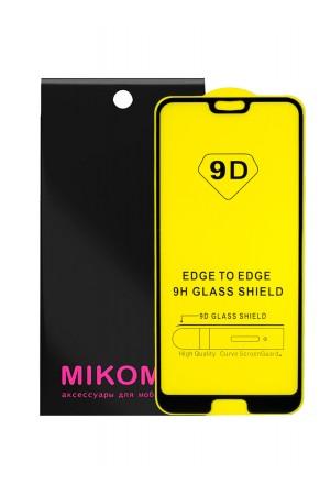 Защитное стекло 9D Mikomo для Honor 10, черная рамка, полный клей